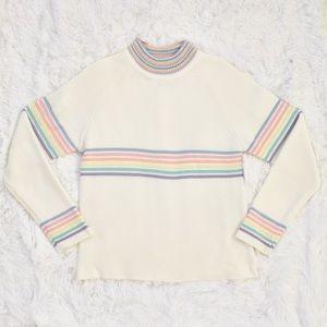 UNIF Oversized Prisma Pastel Rainbow Sweater